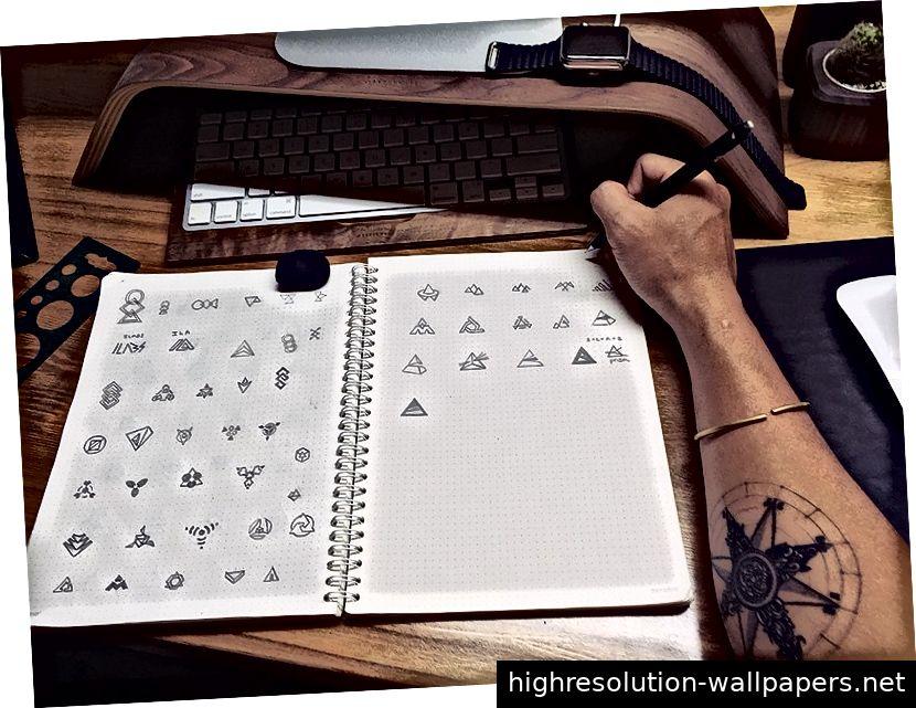 Logo skizzieren
