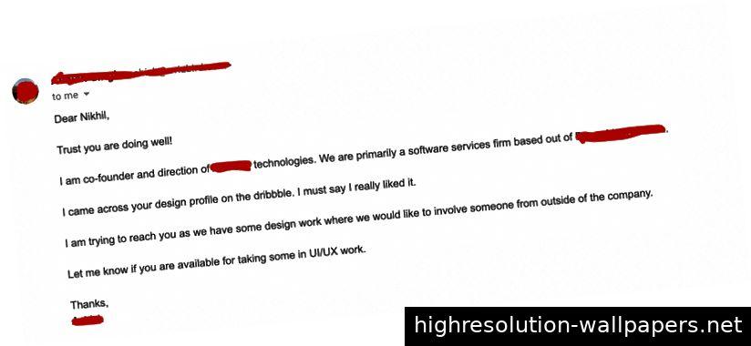 Beispiel einer Mail von einem Client