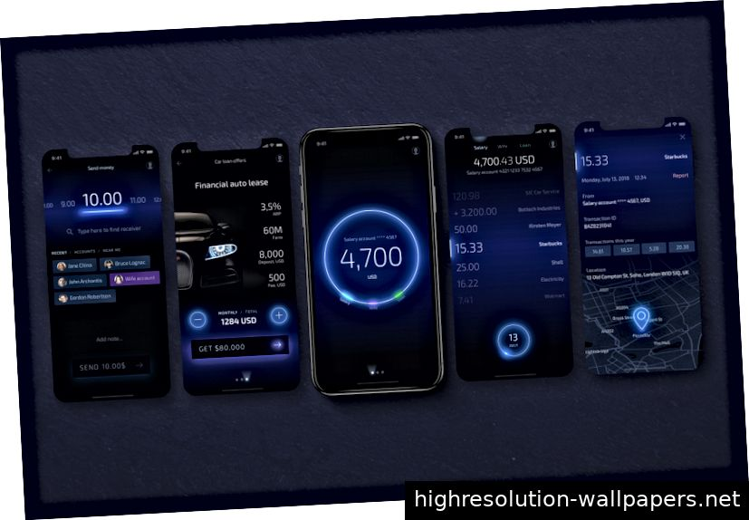 Light Bank Mobile Banking App UX / UI-Konzept von UXDA