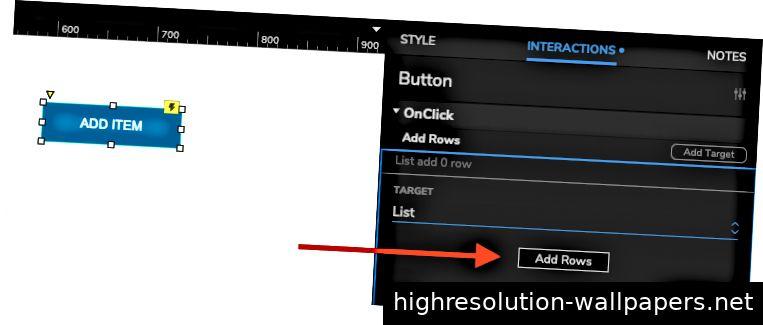 Klicken Sie auf die Schaltfläche, um diesem Repeater Zeilen hinzuzufügen