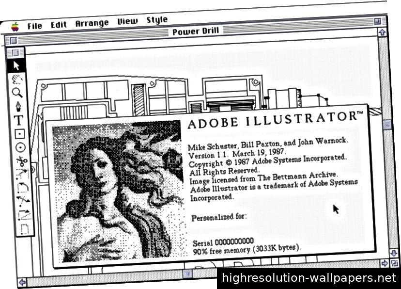 Fig. 2 Schuster, Mike et al. Adobe Illustrator. 1987. Digital Image. Die lange Sicht. 10. Mai 2019. http://basalgangster.macgui.com/RetroMacComputing/The_Long _View / Entries / 2011/6 / 28_Draw.html.