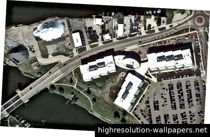 Luftaufnahme des Riverview Campus der Whirlpool Corporation in Benton Harbor, Michigan.