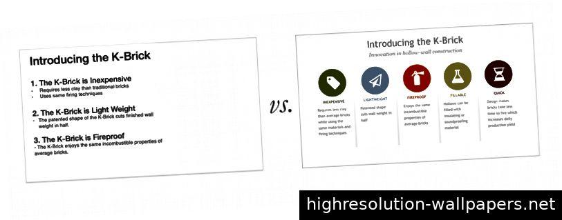 Verwandeln Sie Ihre Aufzählungszeichen in beschreibende Symbole.