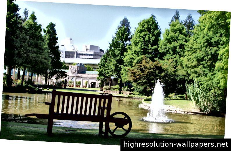 Hisaya Odori Garden, Nagoya. Bildnachweis: 公益: City 団 法人 名古屋 市 み り り (Nagoya City Green Association)