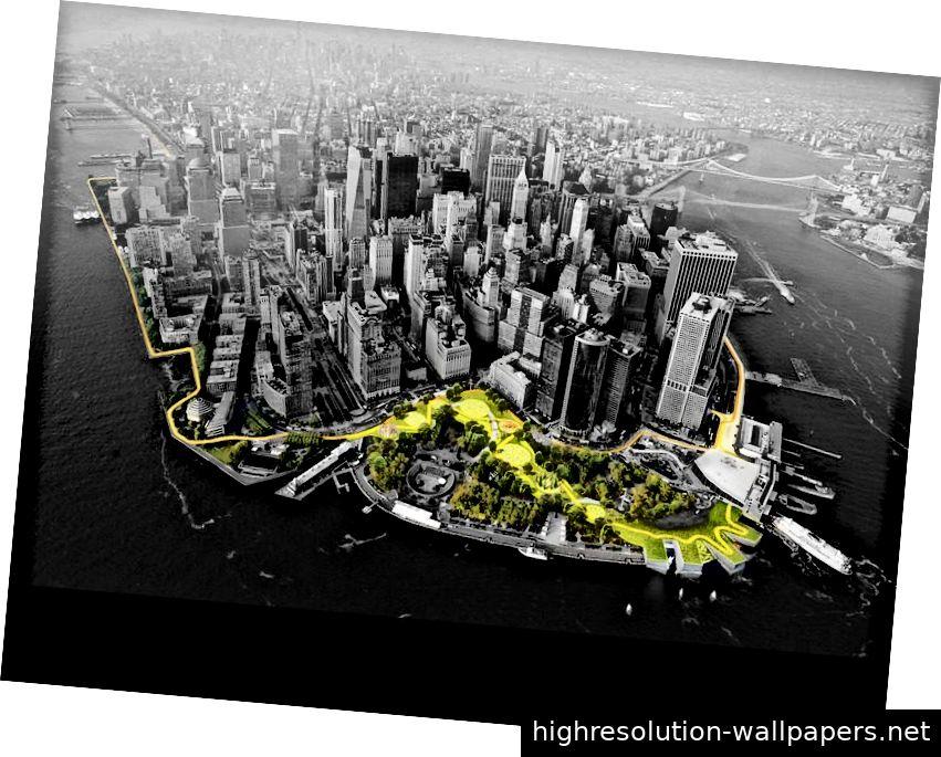 New York Citys Big U-Plan. Bildnachweis: Bjarke Ingels Group