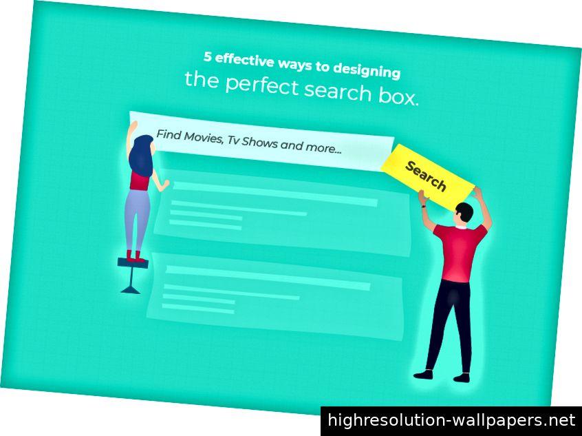 5 Effektive Möglichkeiten zum Entwerfen des perfekten Suchfelds.