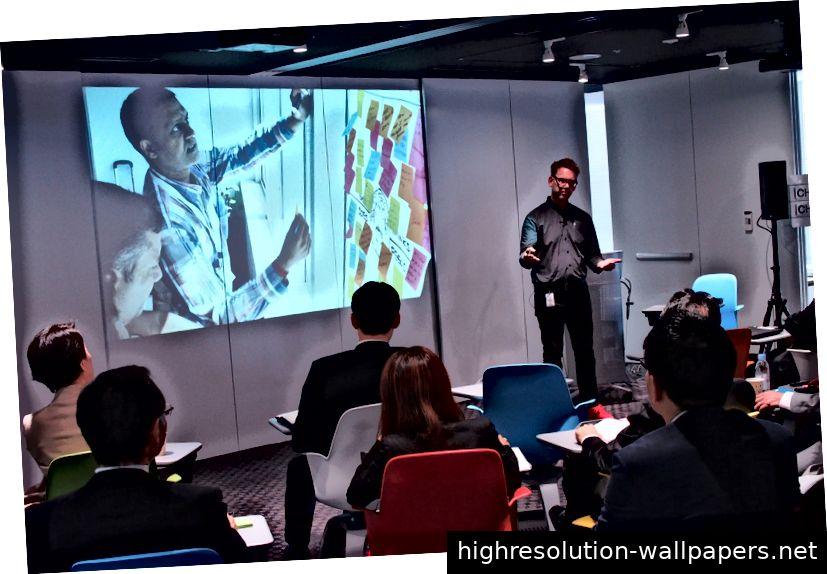 IBM Design Thinking von Doug Powell im IBM Tokyo Design Studio im Jahr 2015