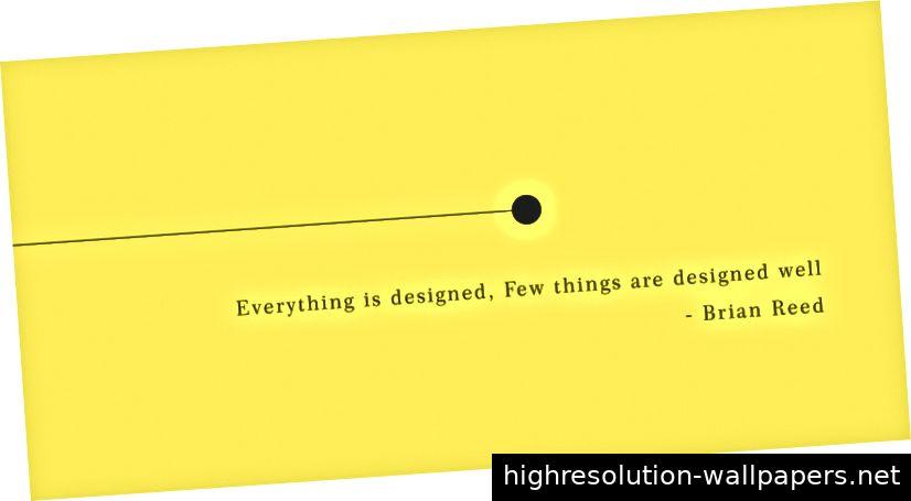 Jeder scheint die Idee des minimalistischen Designs zu lieben, da es eine Menge Wirkung erzeugt.