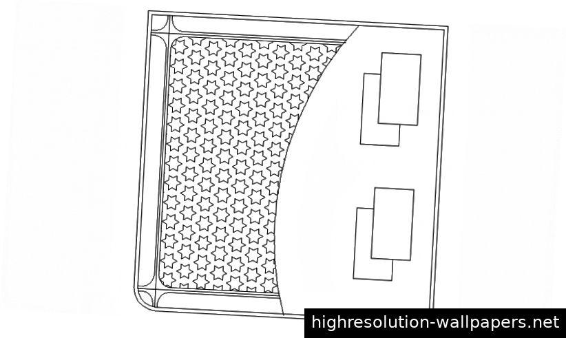 Möbelblockdesign der AutoCAD-Datei mit 2D-Ansicht des Doppelbetts