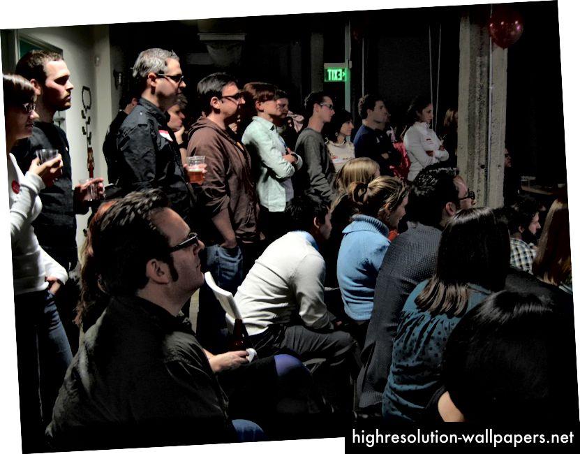 Election Night 2008 på Twitter HQ. Foto af Scott Beale.
