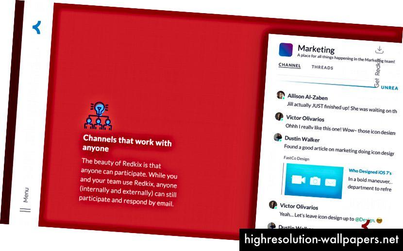 Og hvis du er en designer hos Redkix, skal du sørge for, at billedet fungerer på crimson.