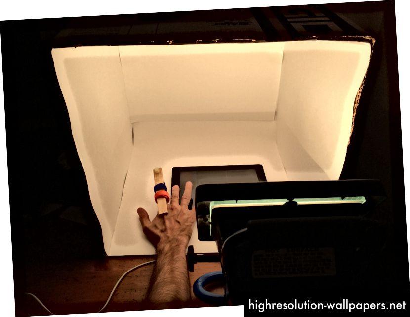 Prueba del botón de la cámara con luz ambiental variable