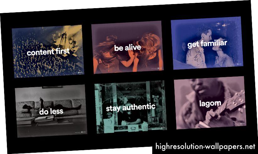 (1) Indhold først (2) Vær levende (3) Bliv fortrolig (4) Gør mindre (5) Bliv autentisk (6) Lagom