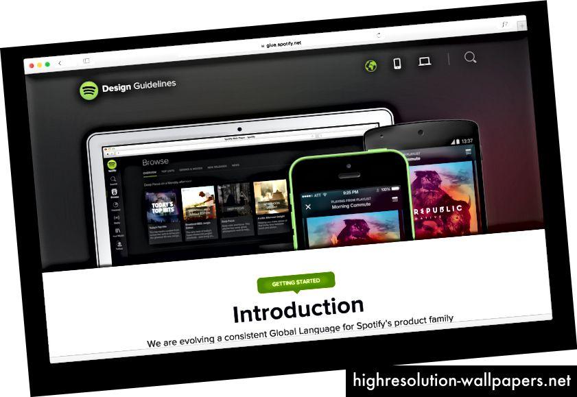 Version 1 af Spotifys retningslinjer