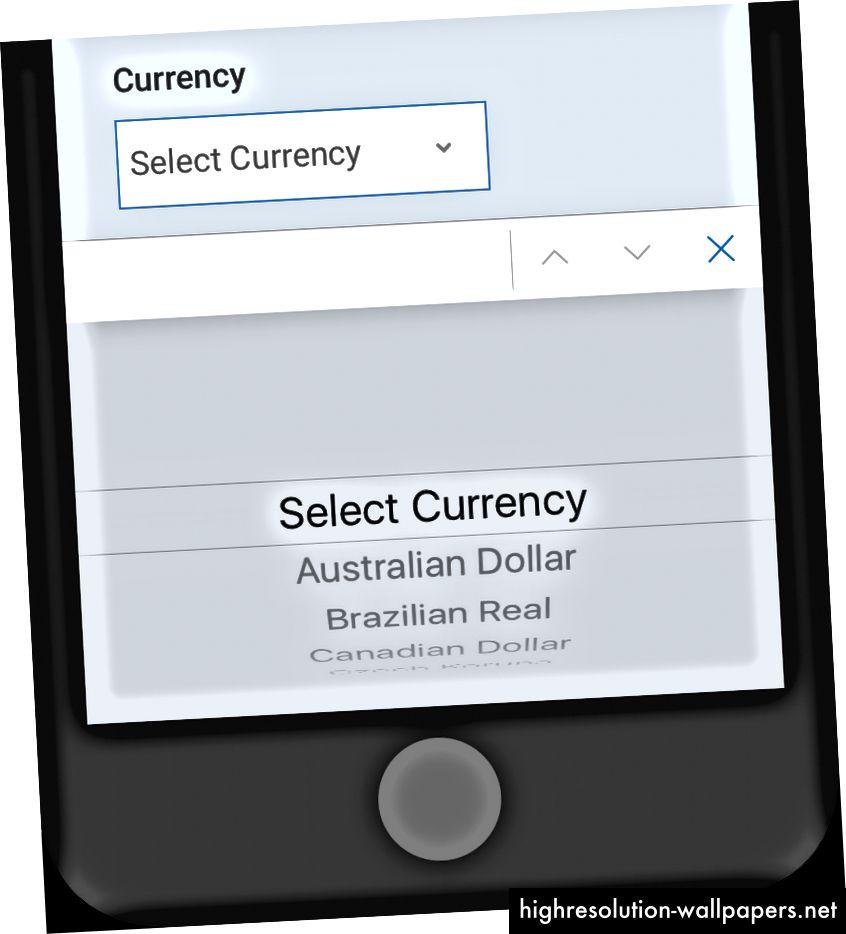 På iOS kan antallet af synlige indstillinger være overraskende lavt ved første øjekast