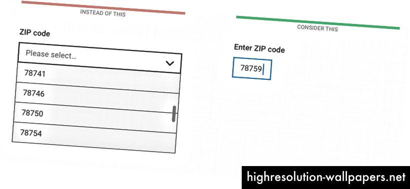 Selvom sorteringsrækkefølgen for en numerisk dropdown er klar, kan det stadig være lettere at skrive end rulle