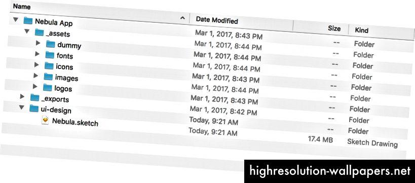 Я добавляю _underscore, чтобы убедиться, что эти папки остаются в верхней части списка.