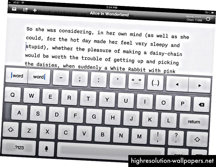 En økonomisk brug af mekanik og en skarp arkitektur giver iAWriter 50-tallets forfatter poetik, der rejser rundt i verden med sin bærbare skrivemaskine.