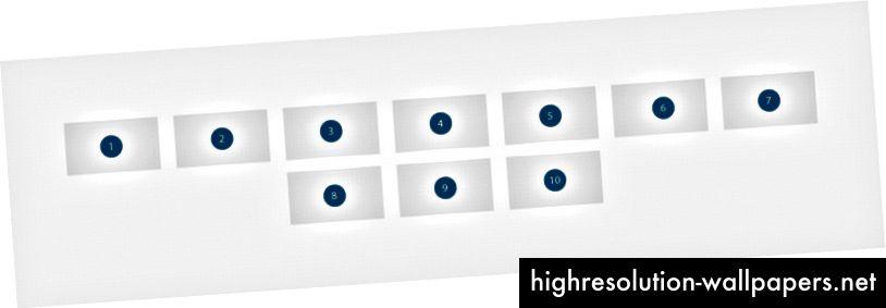 Dando más pasos, tenemos las imágenes perfectamente alineadas con el centro (horizontal y verticalmente)