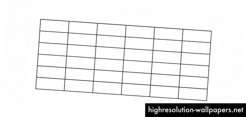 Una serie de líneas de guía rectas (verticales, horizontales) que se cruzan