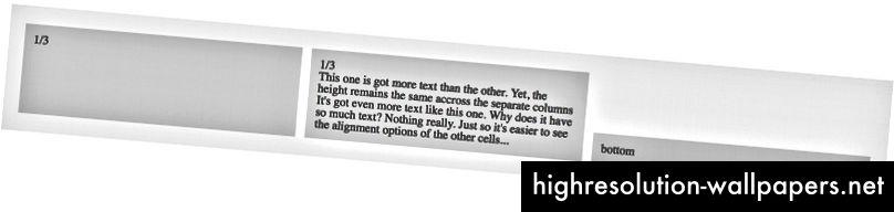 ved anvendelse af .row_cell - bundklasse justeres den specifikke celle til bunden af rækken