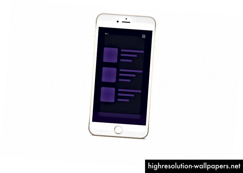 El diseño de la aplicación móvil que crearemos con Flexbox
