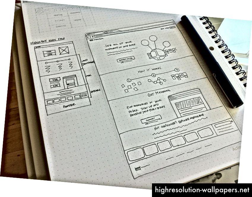 Скицирането е бърз начин за визуализиране на идея (като нов дизайн на интерфейса). Изображение: Никълъс Суонсън
