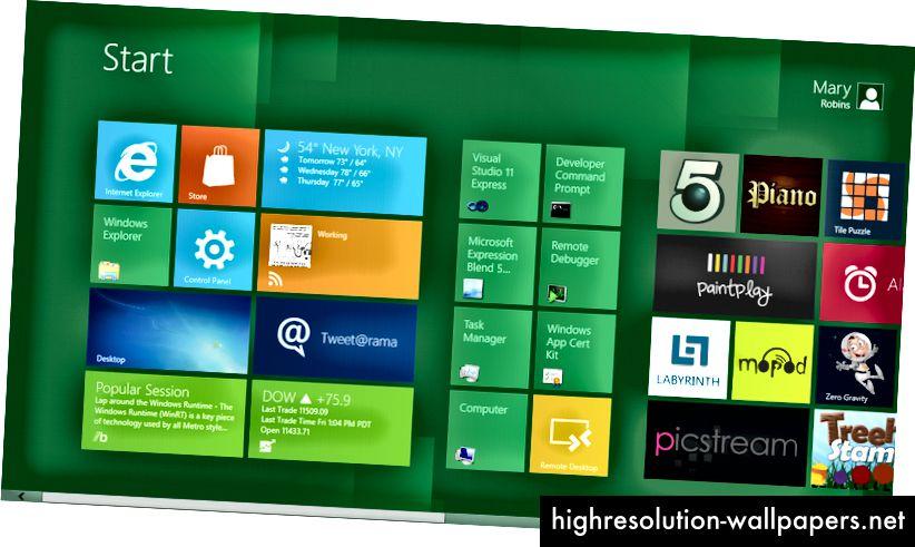 Windows Metro UI luottaa erittäin tasapainoisiin verkkoihin. Alkaa tuntea olevansa todella kliininen.