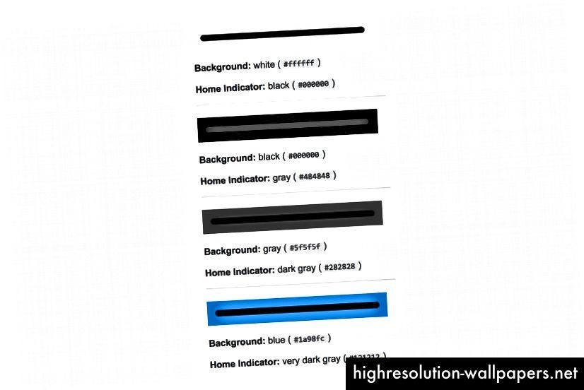 Ορισμένα παραδείγματα χρώματος δείκτη σπιτιών από την απάντηση υπερχείλισης στοίβας.