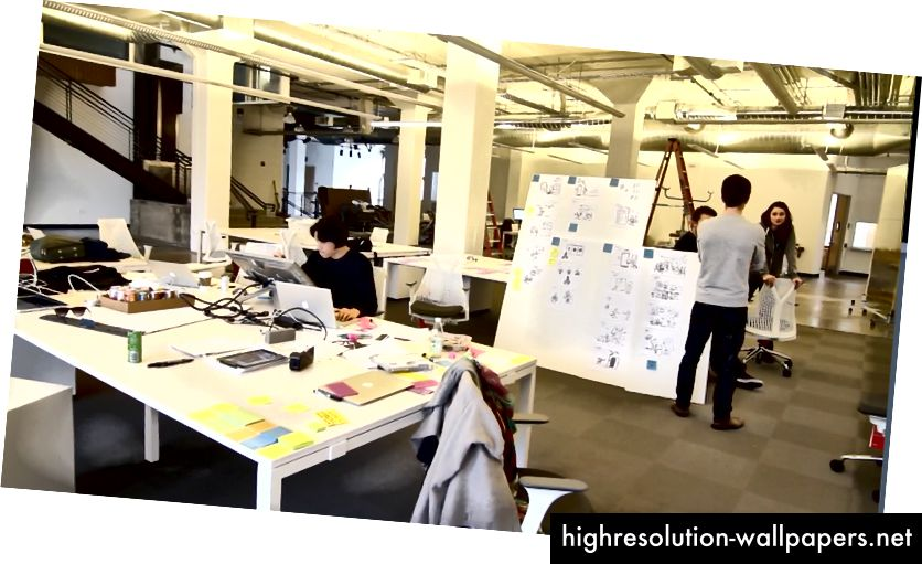 Airbnb samarbejdede med Pixar-illustratører om et storyboard for at kommunikere visionen for virksomheden. Fotokredit: FastCo Design