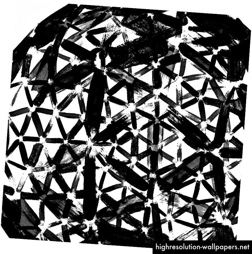 μελάνι αστέρι | θόρυβος μελανιού inky icosphere