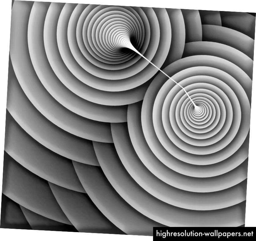 kant blæst ud roterende firkant