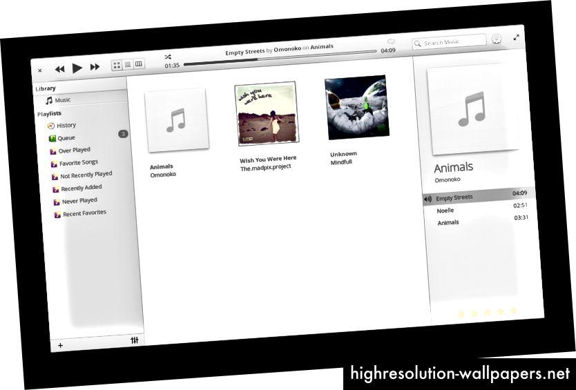 Nuevo arte de marcador de posición del álbum y la nueva barra lateral del álbum