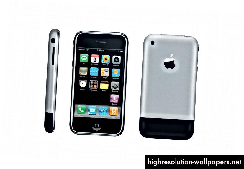 Begyndelsen på det hele - den første iPhone blev lanceret tilbage i 2007