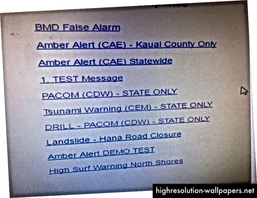 Esta lista, suministrada por HIEMA, son las plantillas para mensajes.