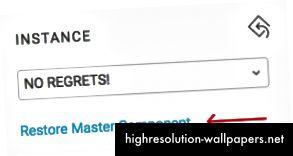 Klik på det blå link gendanner din masterkomponent. Pyha!