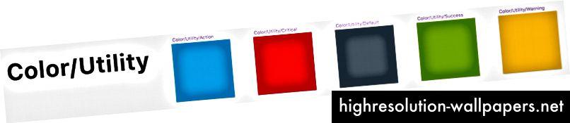Αυτά τα χρώματα χρησιμότητας μπορούν να μεταφερθούν σε οποιαδήποτε άλλη σελίδα συνιστωσών ανάλογα με τις ανάγκες - κουμπιά, τοστ, εικονίδια κ.λπ.