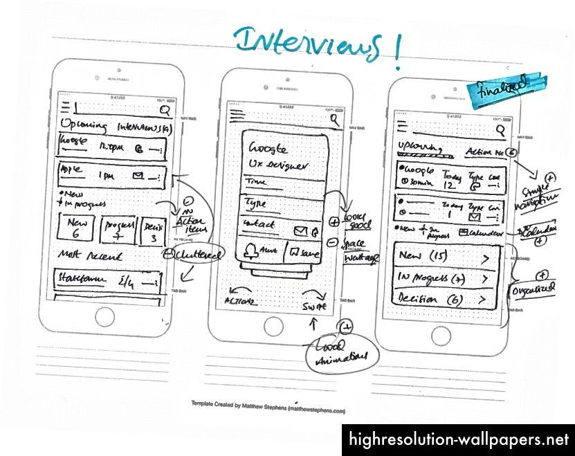 Interviews design