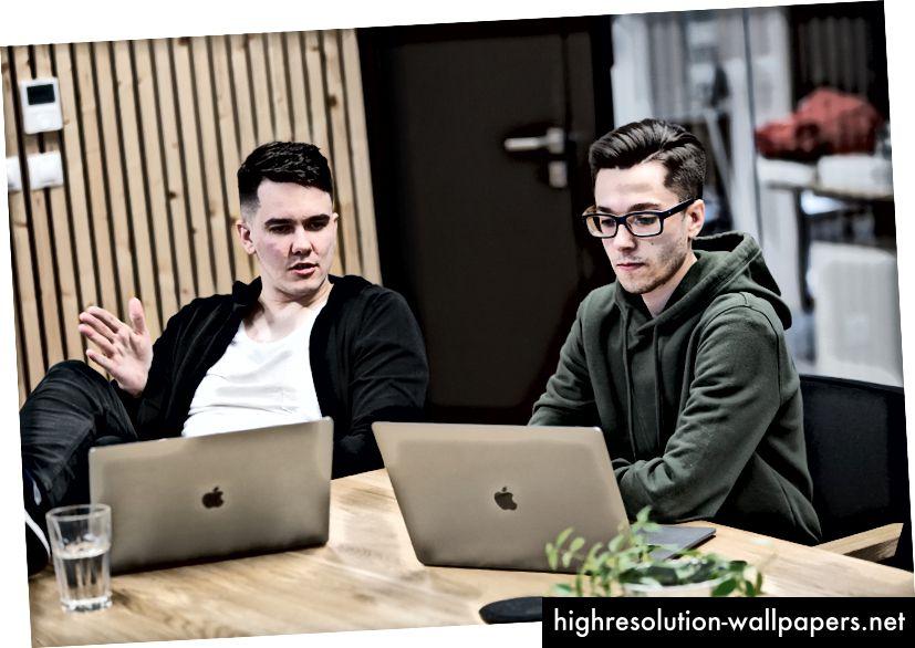 Marian Fusek (til venstre), Ales Nesetril (til højre), foto af Jakub Nespor