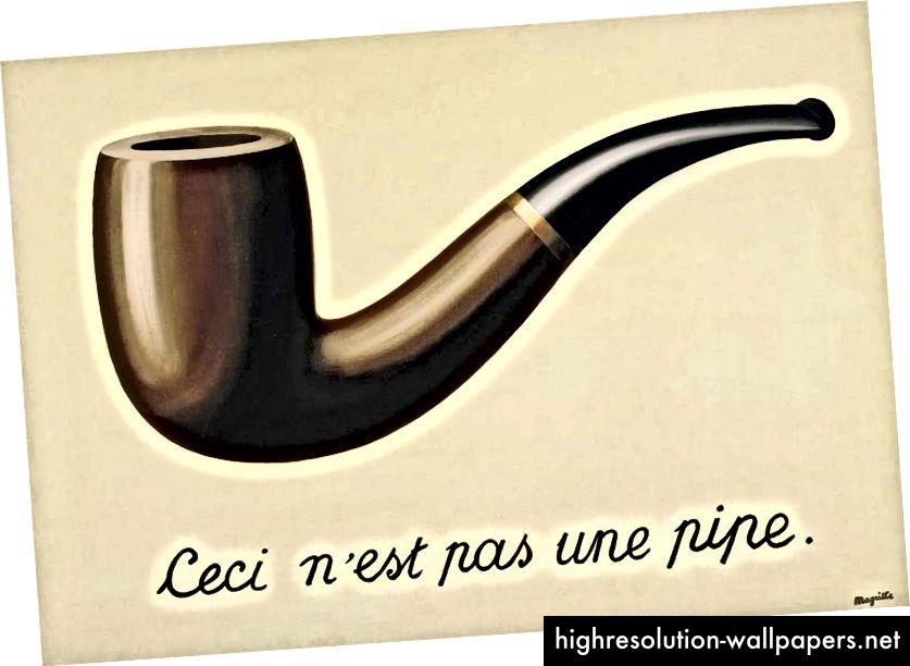 Ceci n'est pas une pipe. C'est un signe.