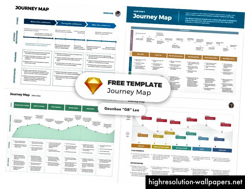 Карта на пътуването - Безплатен шаблон за скица, проектиран от GB