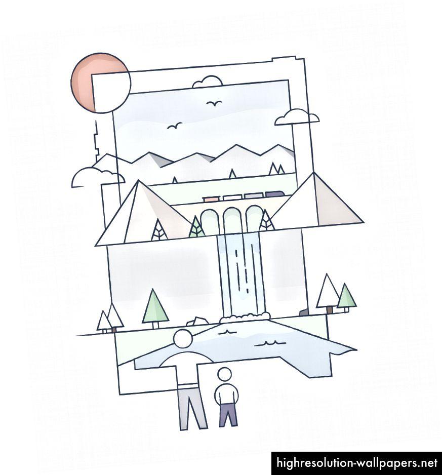 Έννοια σκίτσα από Δομίνικ Φιάλη