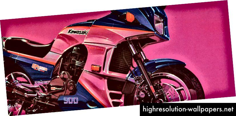 Kawasaki GPRZ900R konservering af Bryon Fitzpatrick, 1984