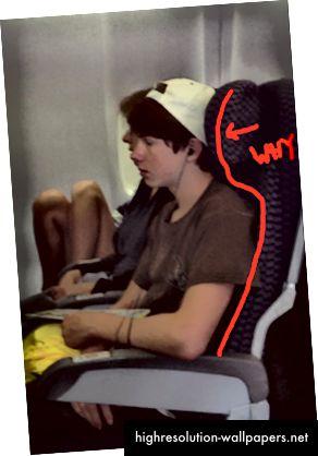 Τα καθίσματα αεροπλάνων στρεβλώνουν τη στάση μας