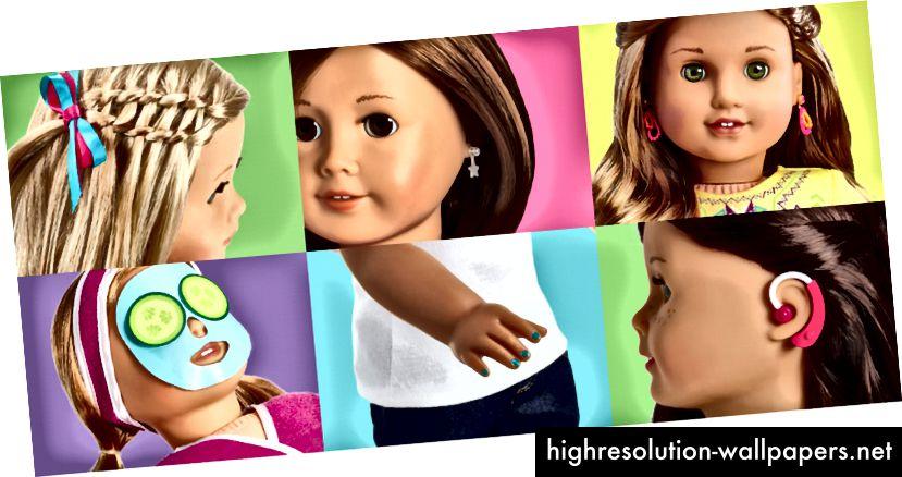 Αμερικανική σχεδίαση Doll Girl Doll