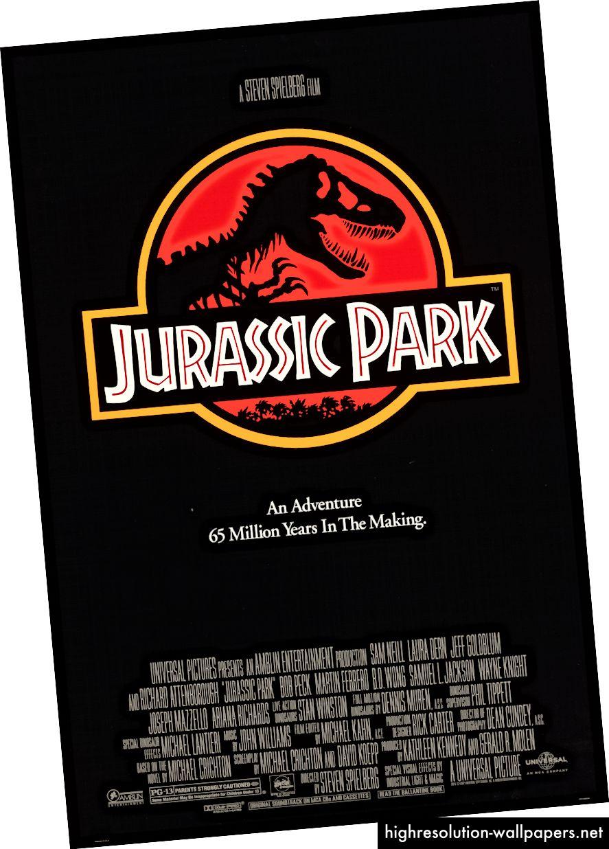 Originalni poster za Jurassic Park