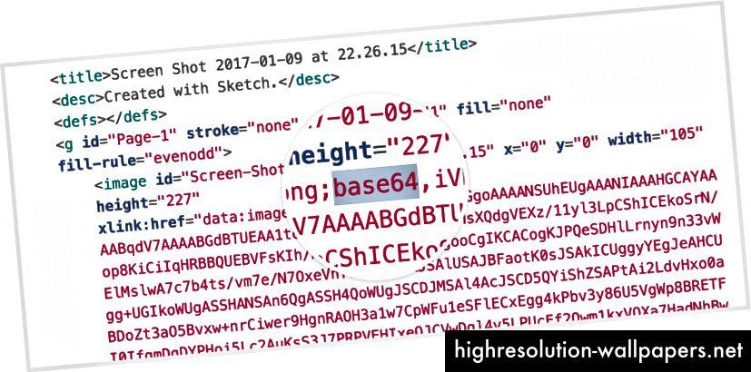 Primjer base64 slike umetnute u vaš SVG