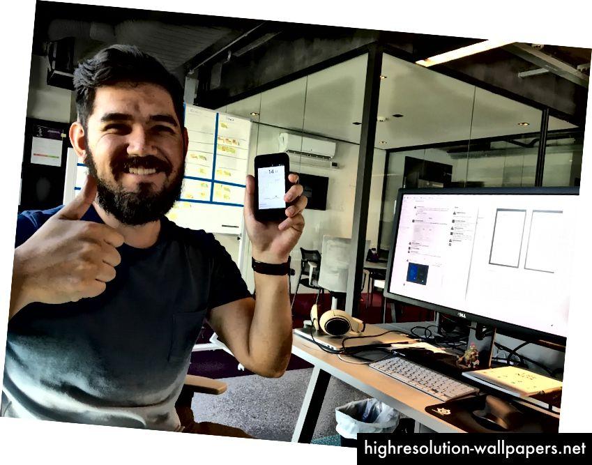 Erick Mazer Yamashita glad for at have kodet en lydhør skærm, der fungerer på enhver enhed