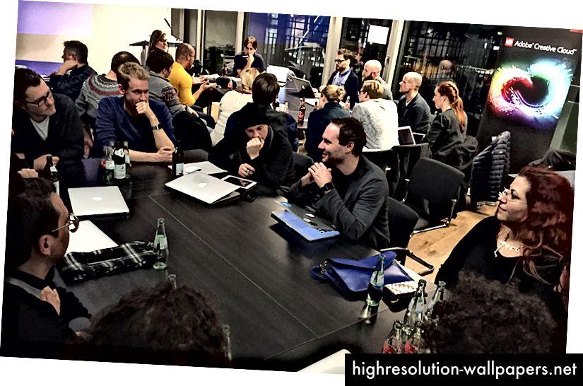 Adobe XD menadžeri proizvoda razgovaraju s kupcima u Europi.