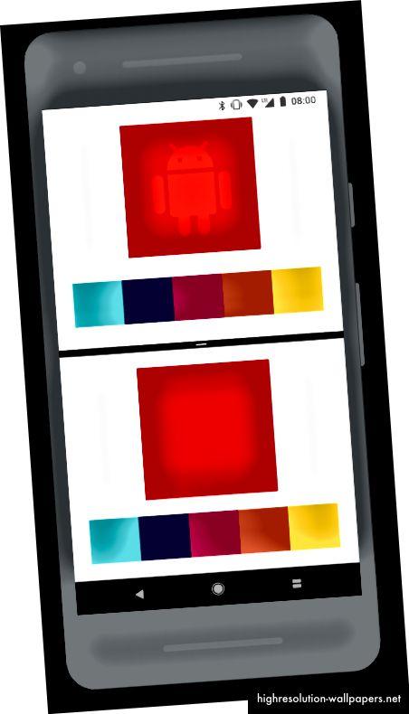 Toimintojen, joissa näytetään laaja värivalikoima, on oltava laaja väritila (yläosa)